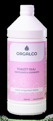 Orgalco Toalett olaj, fertőtlenítő és légfrissítő keleti virágoskert illatú 1 liter