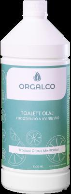 Orgalco Toalett olaj, fertőtlenítő és légfrissítő trópusi citrus mix illatú 1 literes
