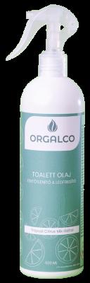 Orgalco Toalett olaj, fertőtlenítő és légfrissítő trópusi citrus mix illatú 0,5 literes szórófejes
